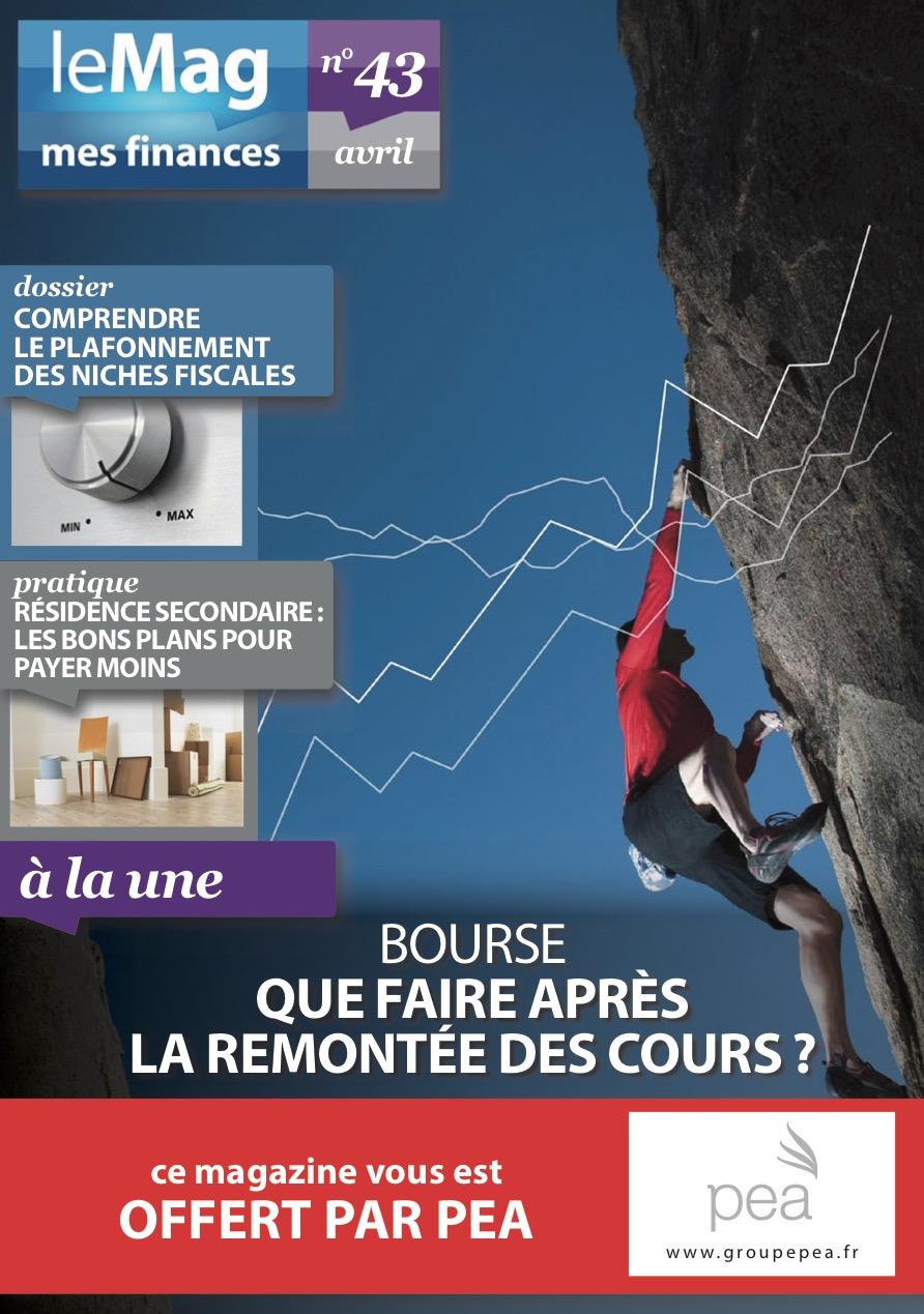 Magazine PEA/Tout Sur Mes Finances – Avril 2015