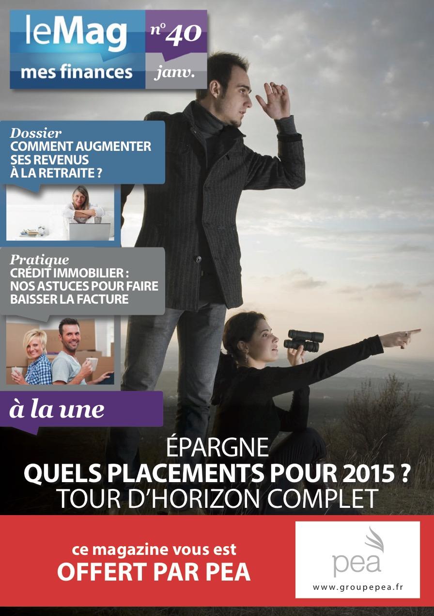 Magazine PEA/Tout Sur Mes Finances – Janvier 2015