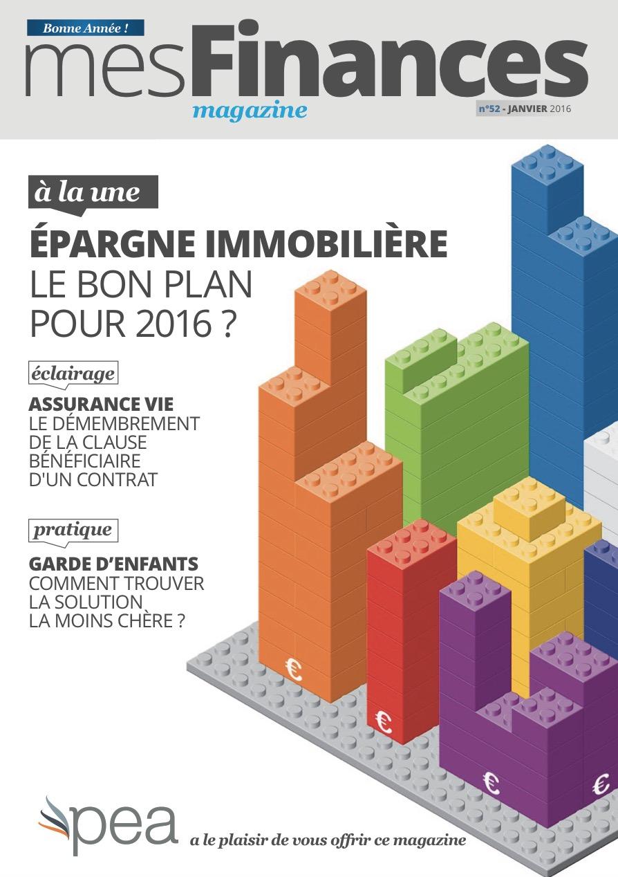Magazine PEA/Tout Sur Mes Finances – Janvier 2016