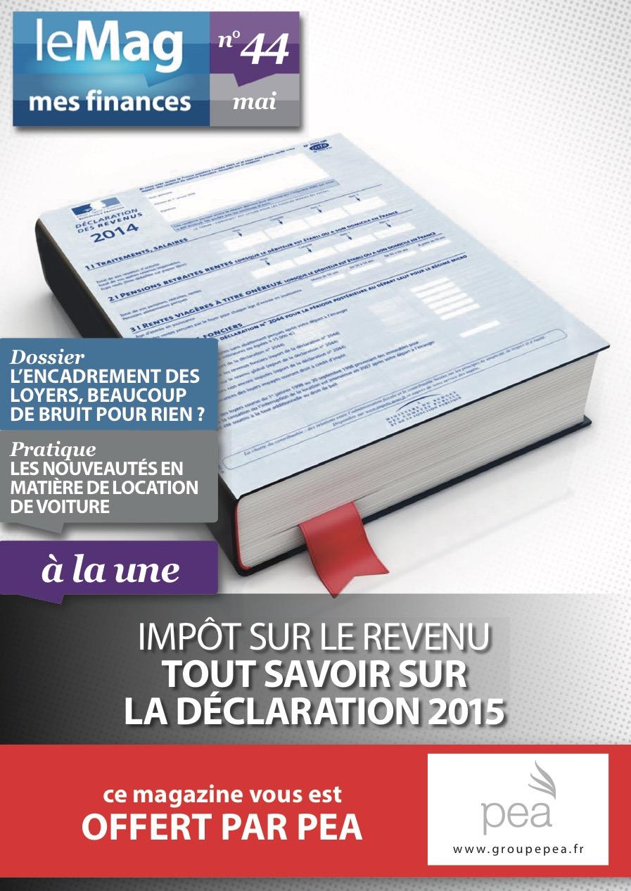 Magazine PEA/Tout Sur Mes Finances – Mai 2015
