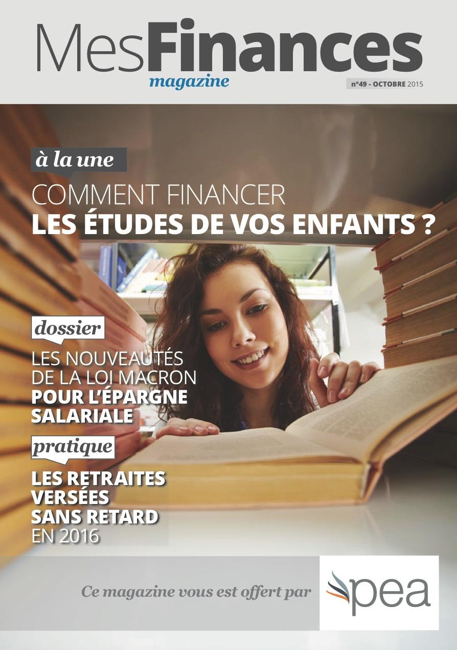 Magazine PEA/Tout Sur Mes Finances – Octobre 2015