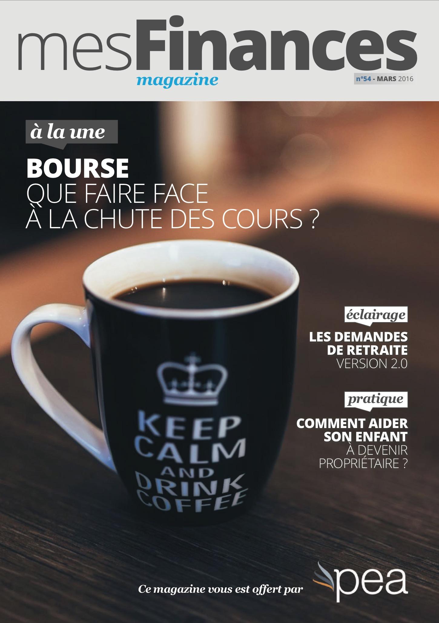 Magazine PEA/Tout Sur Mes Finances – Mars 2016