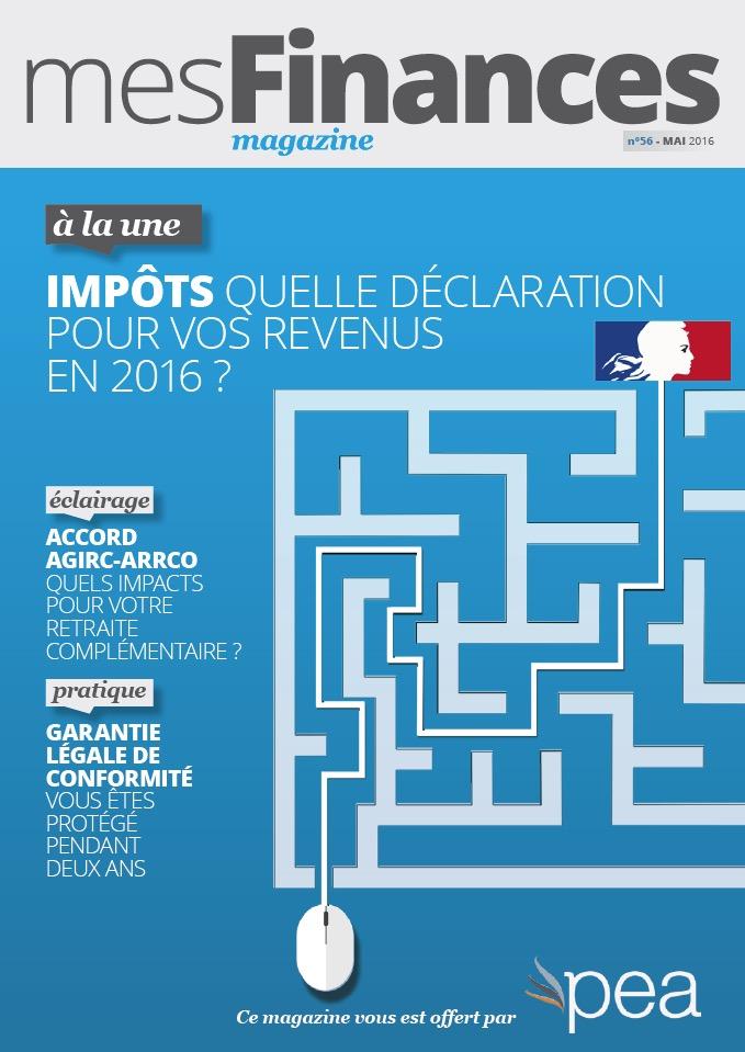 Magazine PEA/Tout Sur Mes Finances –  Mai 2016
