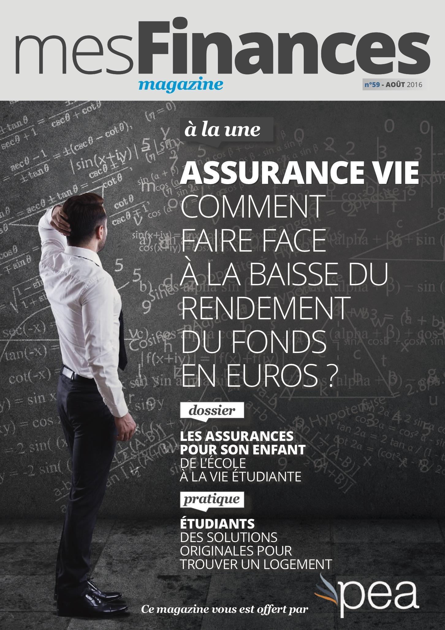 Magazine PEA/Tout Sur Mes Finances –  Aout 2016