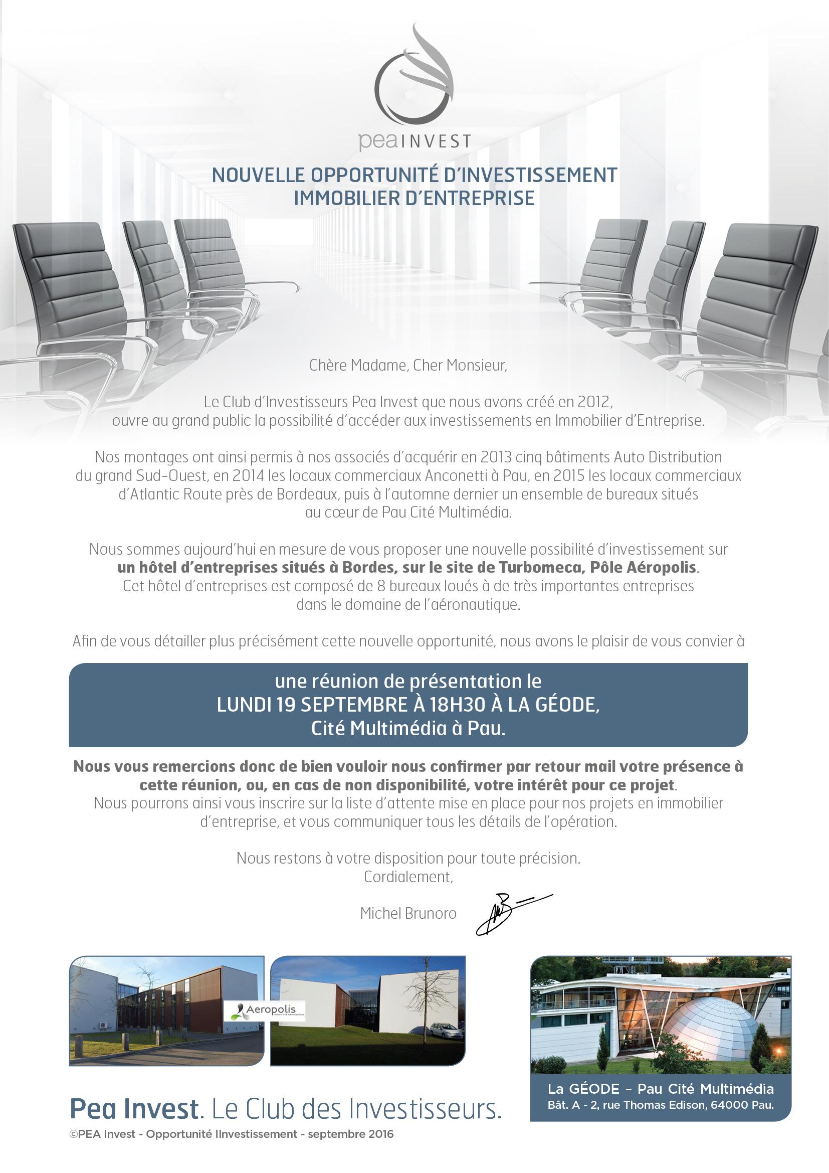 Nouvelle possibilité d'investissement en Immobilier d'Entreprise
