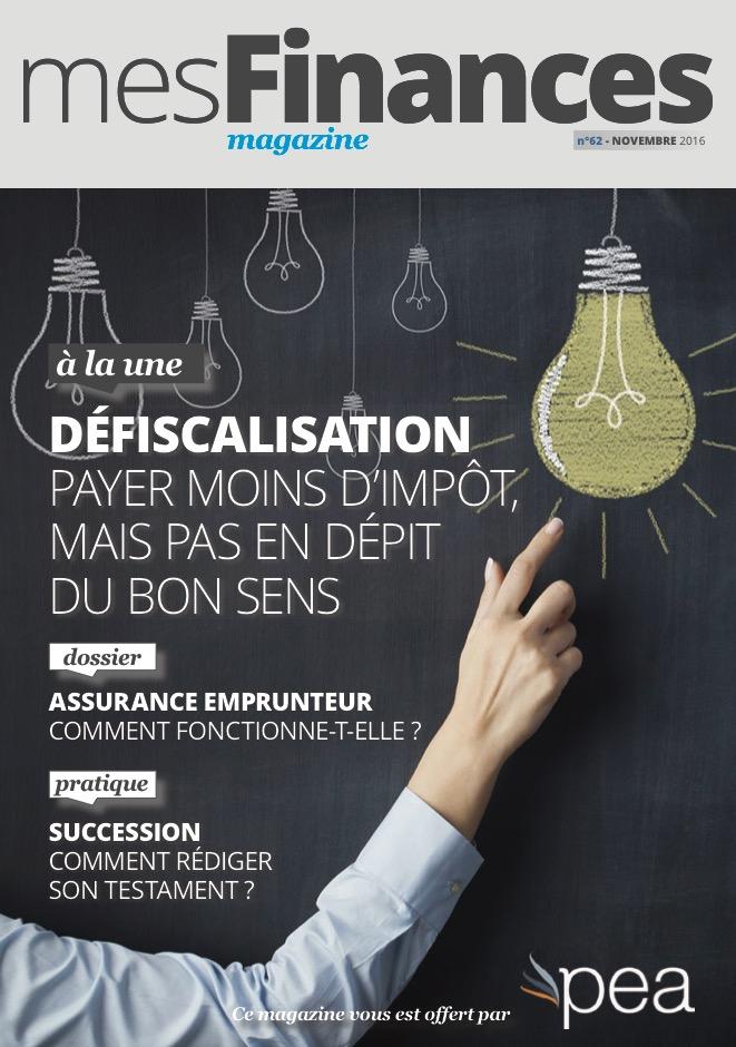 Magazine PEA/Tout Sur Mes Finances –  Novembre 2016
