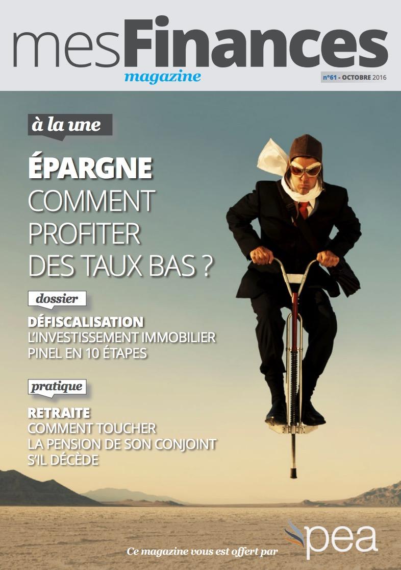 Magazine PEA/Tout Sur Mes Finances –  Octobre 2016