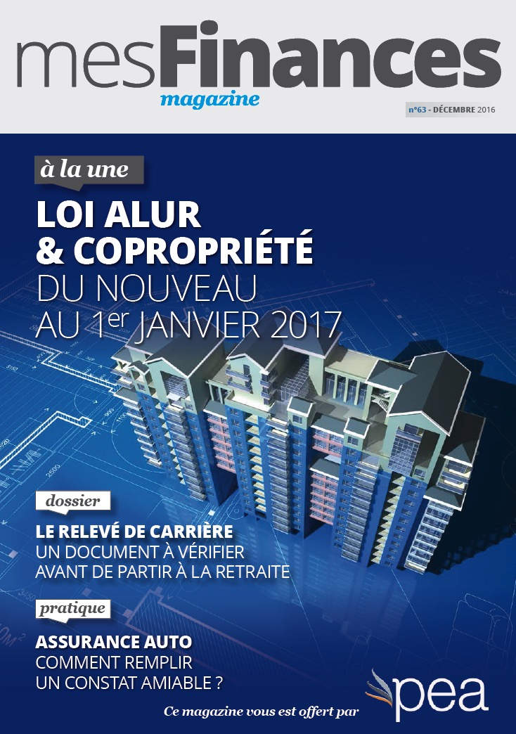 Magazine PEA/Tout Sur Mes Finances –  Decembre 2016