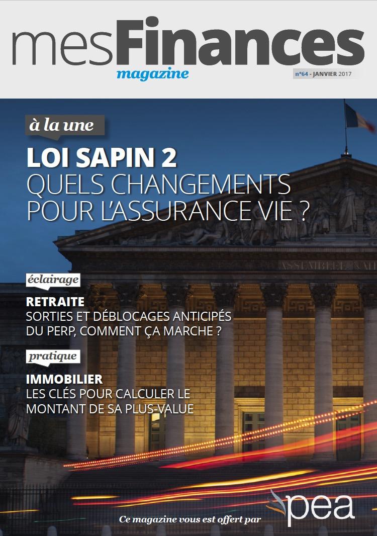 Magazine PEA/Tout Sur Mes Finances –  Janvier 2017