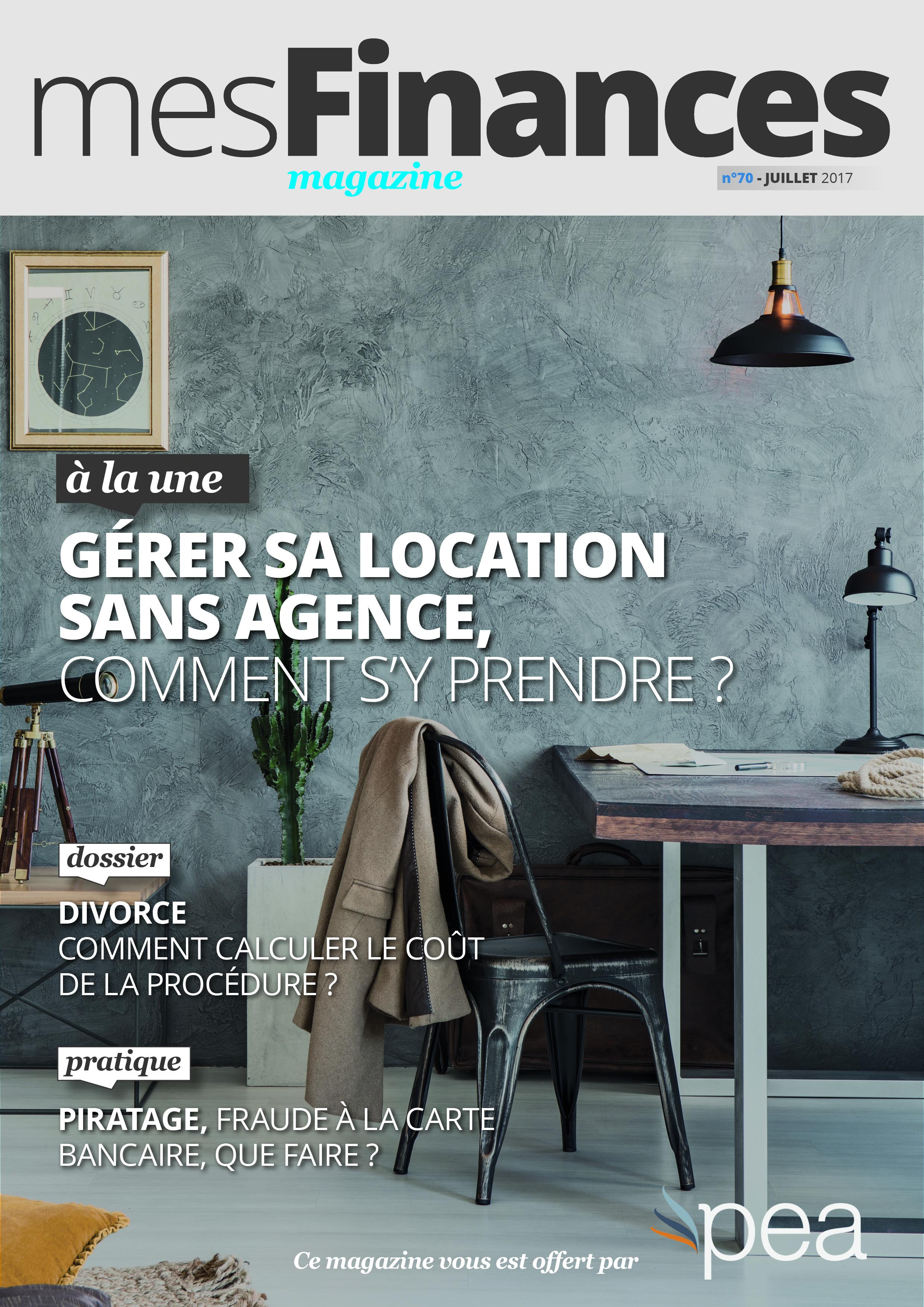 Magazine PEA/Tout Sur Mes Finances –  Juillet 2017