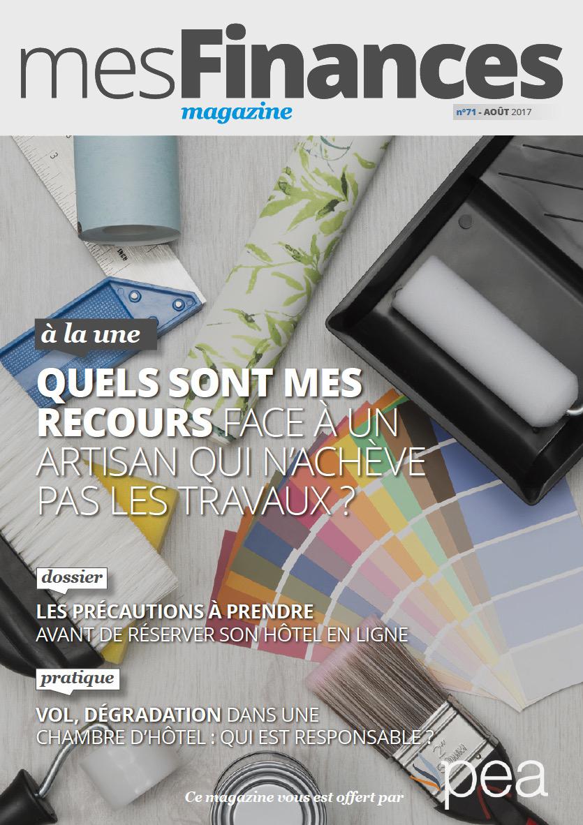 Magazine PEA/Tout Sur Mes Finances –  Août 2017