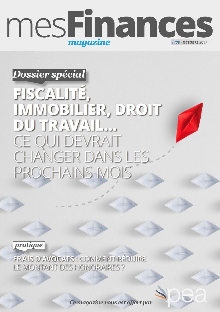 Magazine PEA/Tout Sur Mes Finances –  Octobre 2017