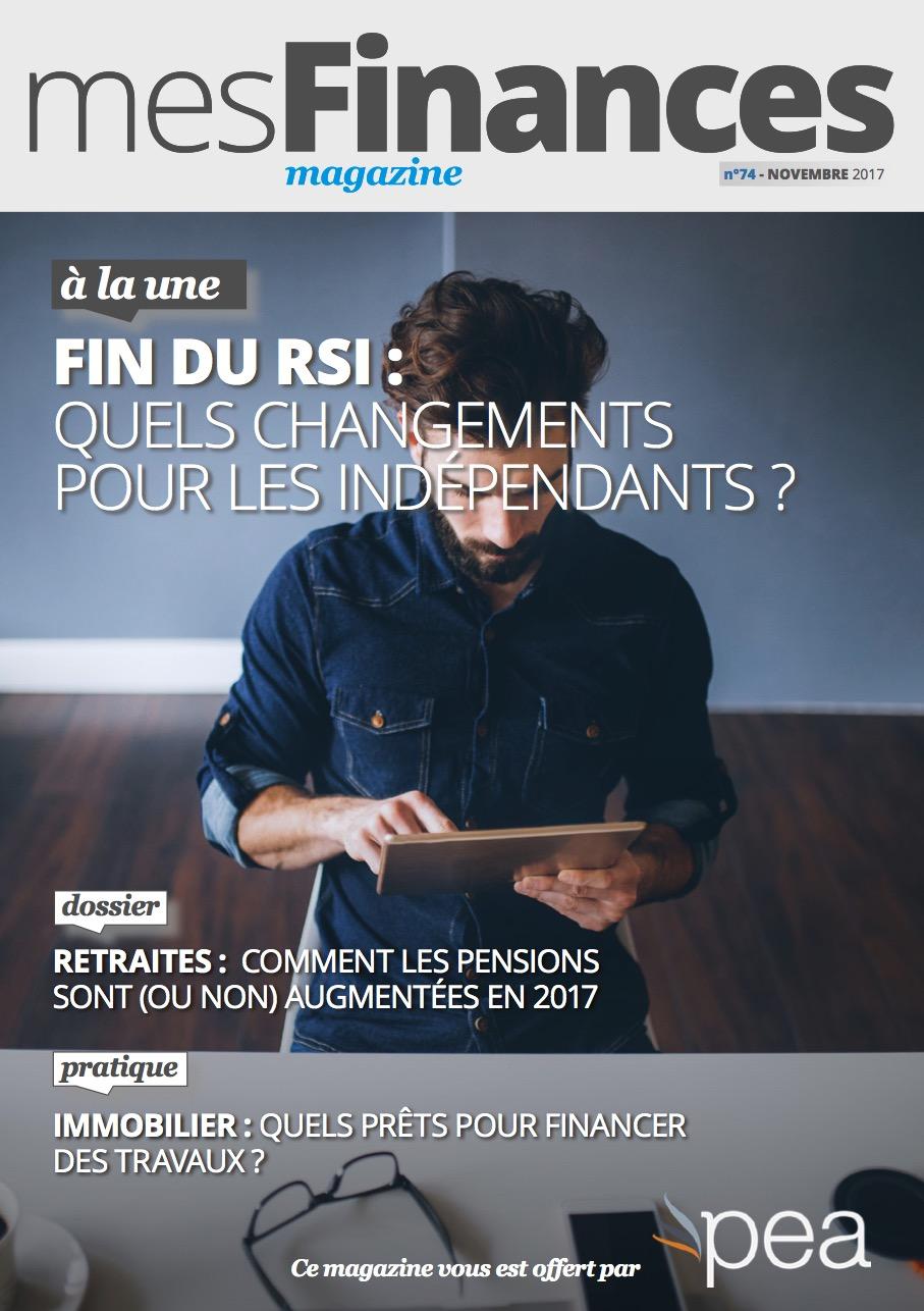Magazine PEA/Tout Sur Mes Finances –  Novembre 2017