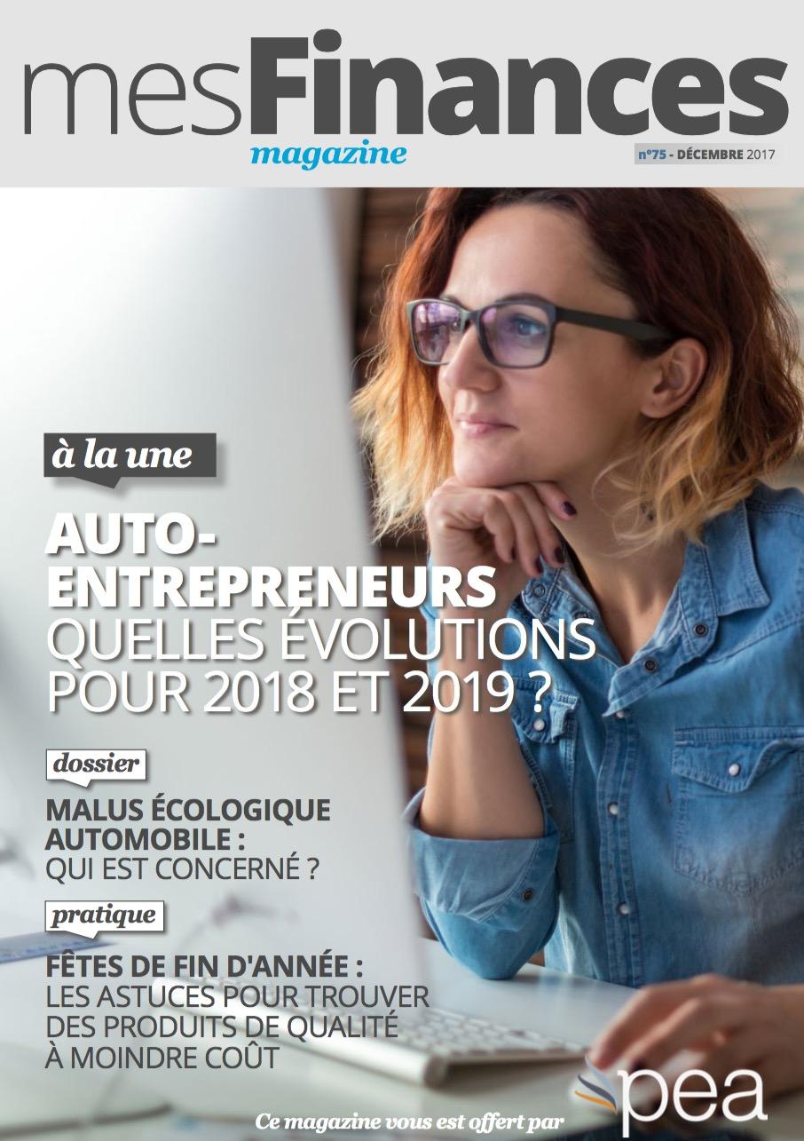 Magazine PEA/Tout Sur Mes Finances –  Décembre 2017