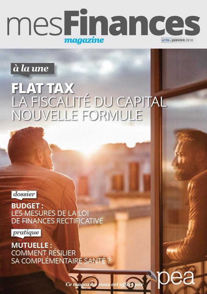 Magazine PEA/Tout Sur Mes Finances –  Janvier 2018