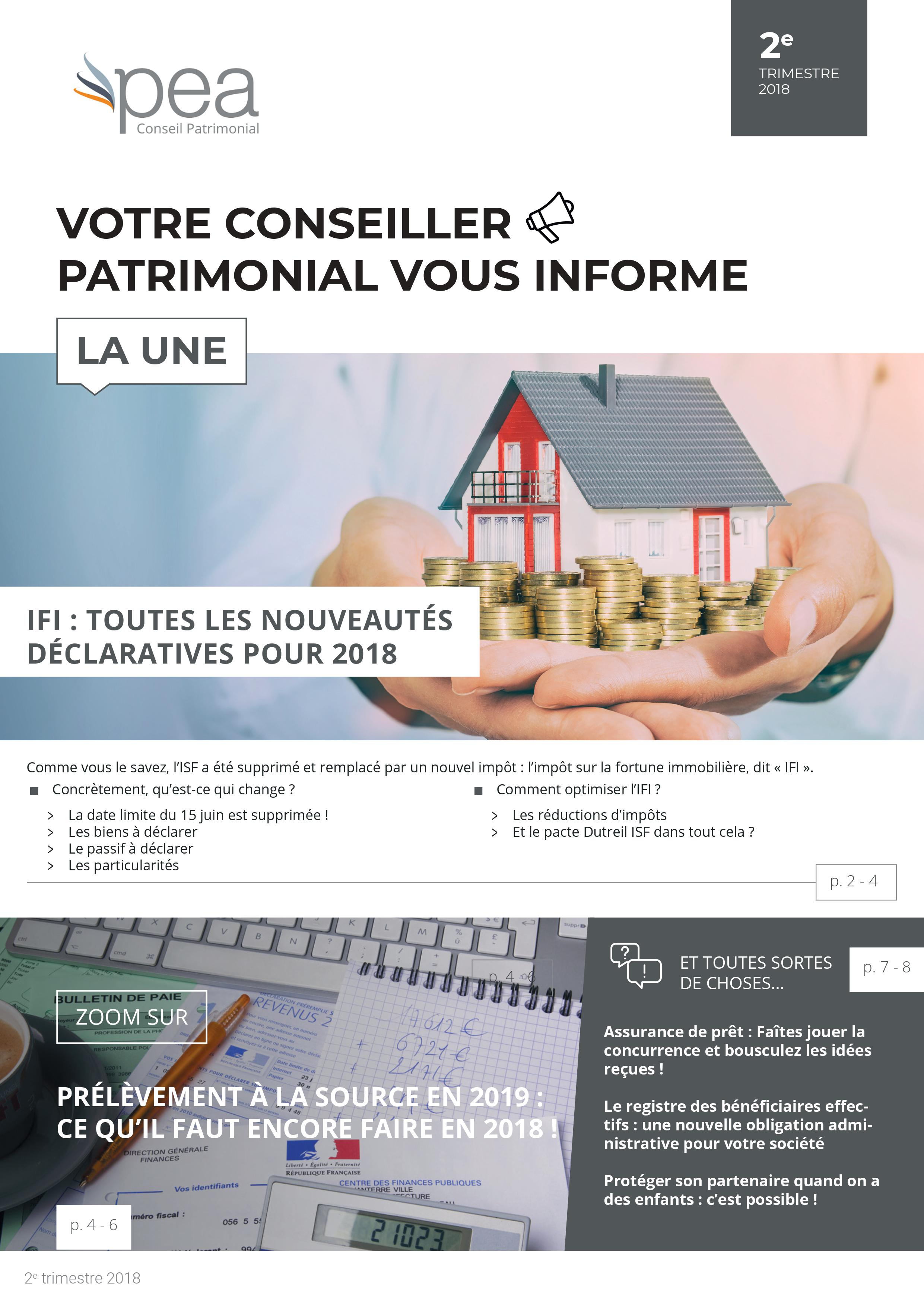 Newsletter Avril 2018 – l'IFI