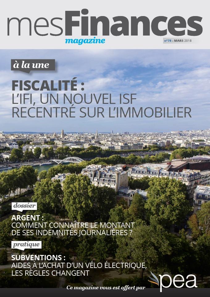 Magazine PEA/Tout Sur Mes Finances –  Mars 2018
