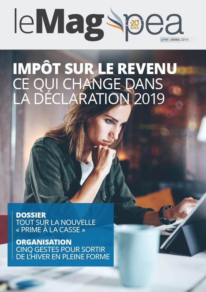 Magazine PEA/Tout Sur Mes Finances –  avril 2019